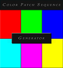 Custom Color Patch Sequence Generator