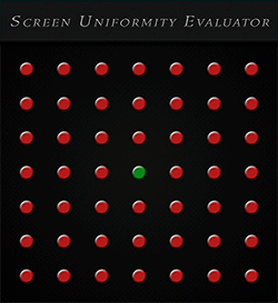 Lightspace Screen Uniformity Evaluator