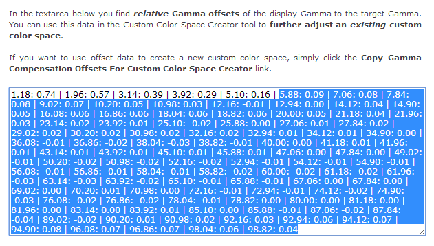 Lightspace Profiler Reporter - Copy Relative Gamma Offsets