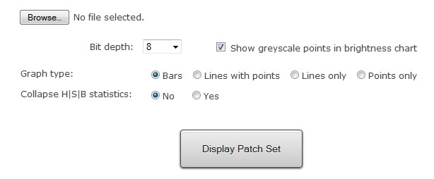 Custom Patch Set Viewer Options Interface